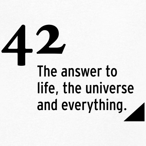 42 - the answer to life, the universe & everything - Männer Bio-T-Shirt mit V-Ausschnitt von Stanley & Stella