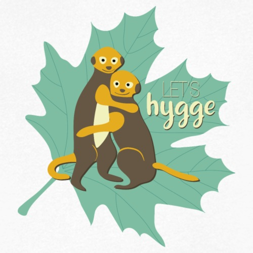 Erdmännchen Herbstfreunde Umarmung - Let's hygge - Männer Bio-T-Shirt mit V-Ausschnitt von Stanley & Stella