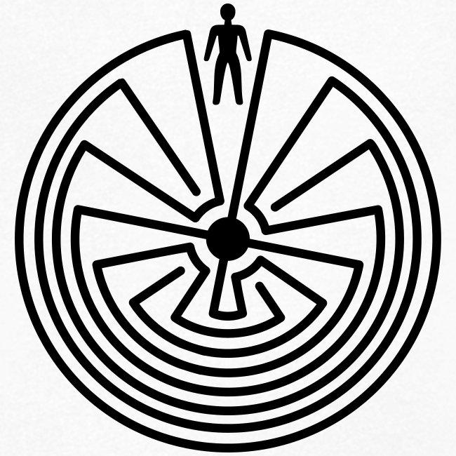 Schamanisches Symbol - Man In The Maze
