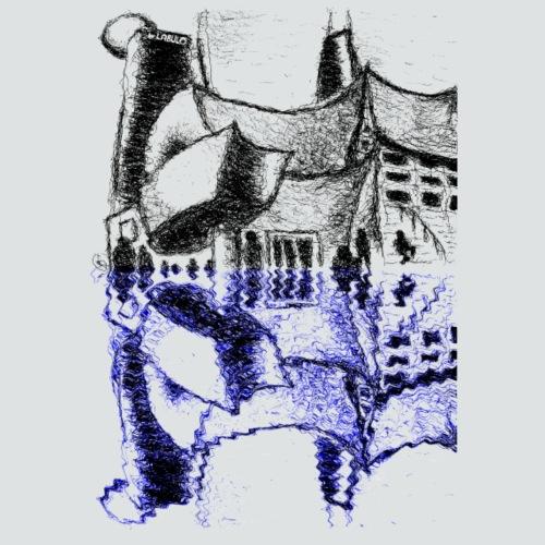 Concert Hall 3 png - Männer Bio-T-Shirt mit V-Ausschnitt von Stanley & Stella