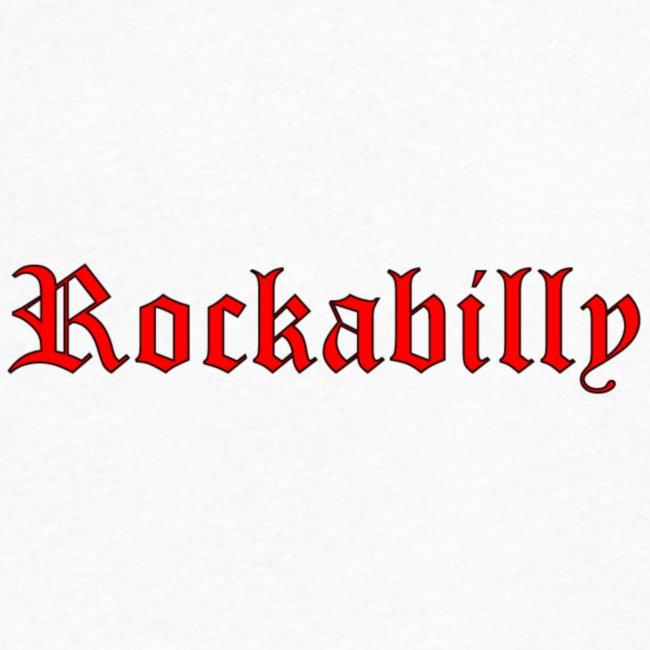 rockabilly red contour noir