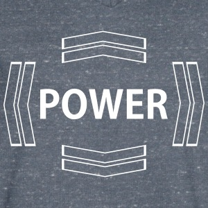 power - Men's V-Neck T-Shirt