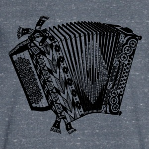 accordeon - Mannen T-shirt met V-hals