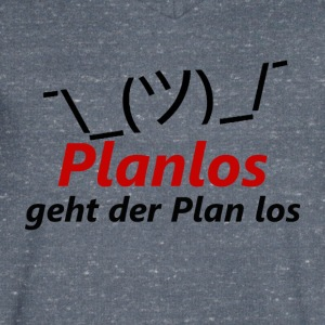 The plan goes off without a plan - Men's V-Neck T-Shirt
