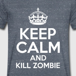 KEEP CALM AND KILL ZOMBIE - Herre T-shirt med V-udskæring