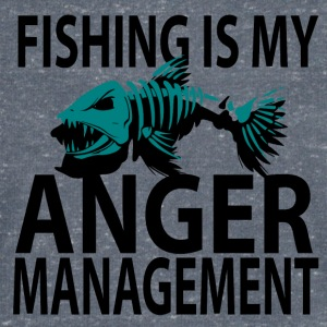 Anger Management - Fiske - T-skjorte med V-utsnitt for menn