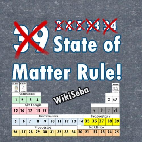 33 Estados de la Materia - Camiseta ecológica hombre con cuello de pico de Stanley & Stella