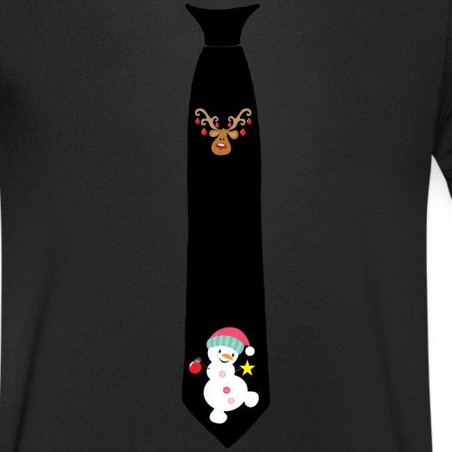 KOOELLE Herren Weihnachts-Krawatte Schneeflocken gestreift gewebt Urlaub Krawatte
