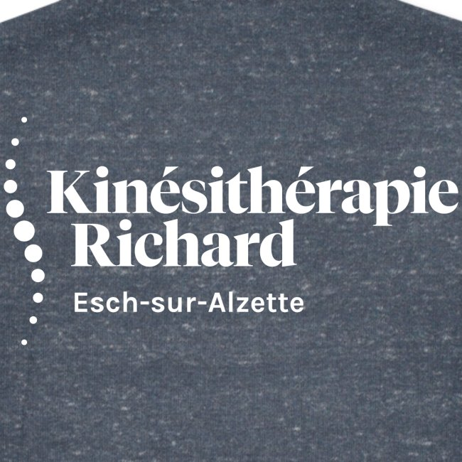 Logo Kiné Richard, Vorne-Hinten, White