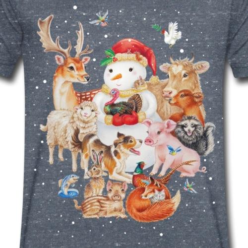winter animals - Mannen bio T-shirt met V-hals van Stanley & Stella