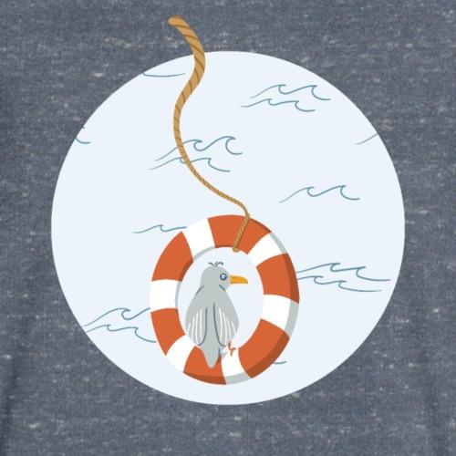 Möwe chillt im Rettungsring über dem Meer - Männer Bio-T-Shirt mit V-Ausschnitt von Stanley & Stella