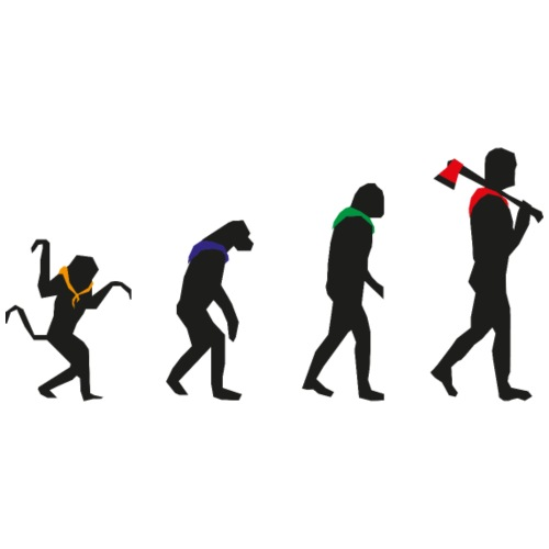 Stufen March of Progress schwarz - Männer Bio-T-Shirt mit V-Ausschnitt von Stanley & Stella