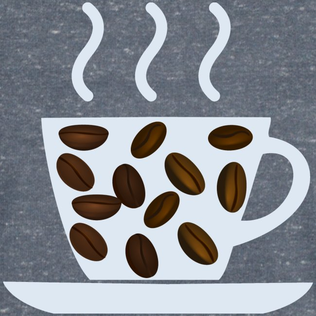 grey cup cofee with beans