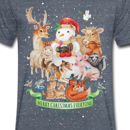 vegan-christmas-green - Men's Organic V-Neck T-Shirt by Stanley & Stella