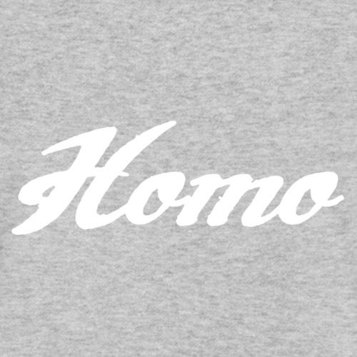 02 homo b white Logbuch72 - Männer Bio-T-Shirt mit V-Ausschnitt von Stanley & Stella