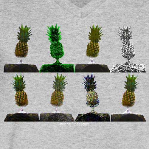 Ananas Pop Art - Männer Bio-T-Shirt mit V-Ausschnitt von Stanley & Stella