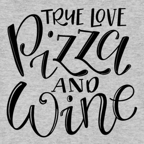 Wahre Liebe - Pizza & Wine - Männer Bio-T-Shirt mit V-Ausschnitt von Stanley & Stella