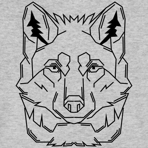 Black Wolf - Männer Bio-T-Shirt mit V-Ausschnitt von Stanley & Stella