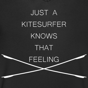 Kitesurfer knows that feeling - Men's V-Neck T-Shirt