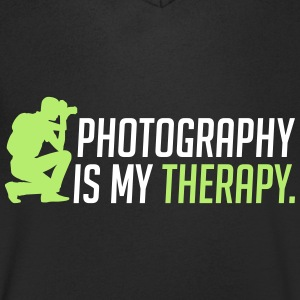 Photography is my therapy - therapy - Men's V-Neck T-Shirt