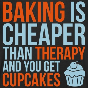 Baking cheaper than therapy - Men's V-Neck T-Shirt