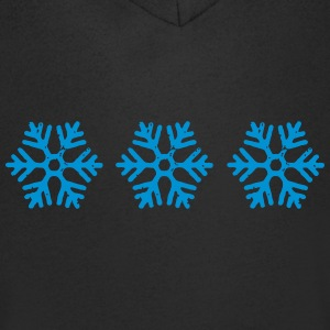 snowflakes - Men's V-Neck T-Shirt