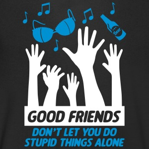 Good friends help with stupid things - Men's V-Neck T-Shirt