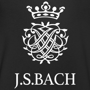 J S Bach and his Seal - Men's V-Neck T-Shirt