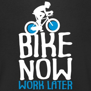 Bike Now Worklater - bike - Men's V-Neck T-Shirt