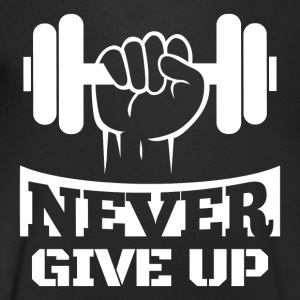 Never Give Up Fitness - Maglietta da uomo con scollo a V
