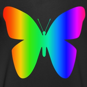 Rainbow Butterfly - Men's V-Neck T-Shirt