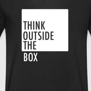 think outside the box be different motivation neu - Männer T-Shirt mit V-Ausschnitt
