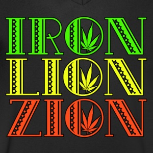 Iron Lion Zion - Men's V-Neck T-Shirt