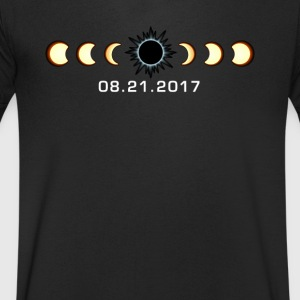 Total Eclipse solaire 21 août 2017 T-shirt - T-shirt Homme col V