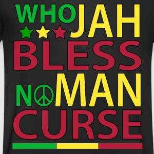 Who Jah Bless No Man Curse - Men's V-Neck T-Shirt