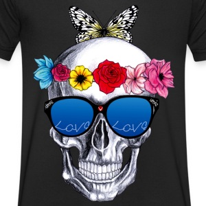 cool flowers - Men's V-Neck T-Shirt