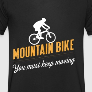 Mountainbike continuer à avancer - T-shirt Homme col V