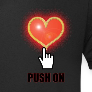 Push on - Men's V-Neck T-Shirt