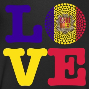Andorra Love heart mandala - Men's V-Neck T-Shirt