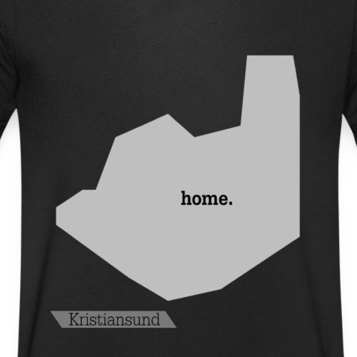Hjemby Kristiansund - Økologisk T-skjorte med V-hals for menn fra Stanley & Stella