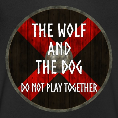 Vikings - The wolf and the dog - Men's Organic V-Neck T-Shirt by Stanley & Stella