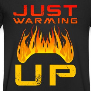 Net Warming Up van Juiceman Benji Gaming - Mannen T-shirt met V-hals