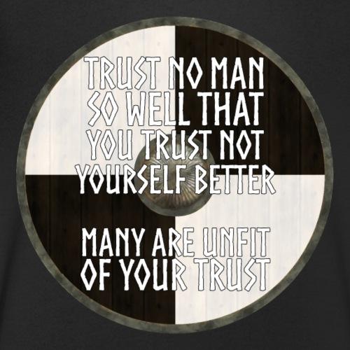 Vikings - Trust No Man - Men's Organic V-Neck T-Shirt by Stanley & Stella