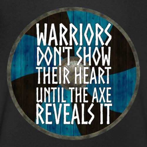 Vikings - Warriors dont show their heart - Men's Organic V-Neck T-Shirt by Stanley & Stella