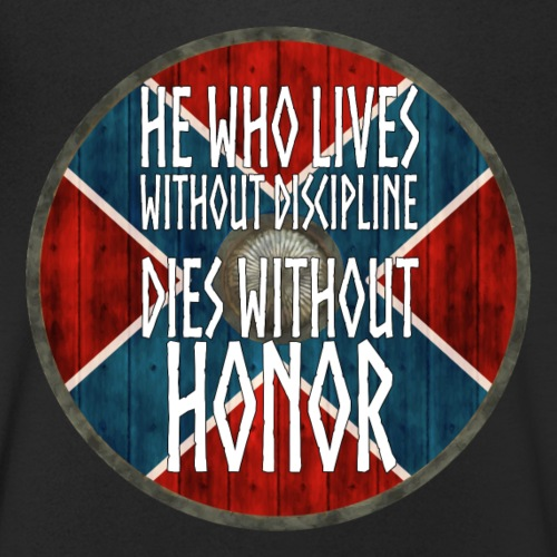 Vikings - He who lives without discipline - Men's Organic V-Neck T-Shirt by Stanley & Stella