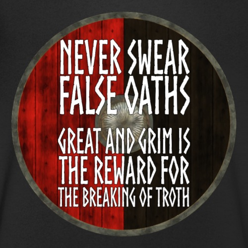 Vikings - Never swear false oaths - Men's Organic V-Neck T-Shirt by Stanley & Stella