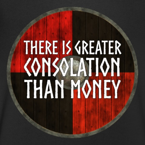 Vikings - Greater consolation than money - Men's Organic V-Neck T-Shirt by Stanley & Stella