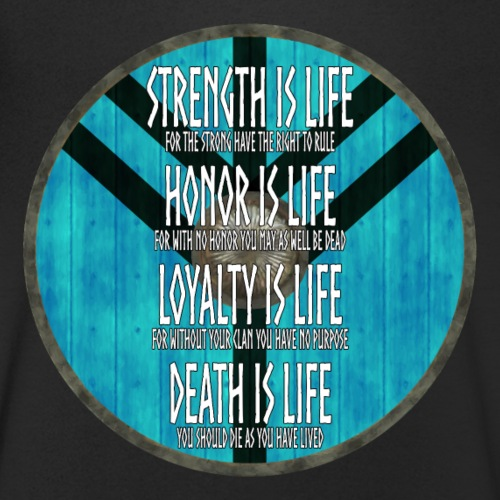 Vikings - Strength is Life, Honor is Life... - Men's Organic V-Neck T-Shirt by Stanley & Stella