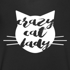 Crazy Cat Woman - T-skjorte med V-utsnitt for menn