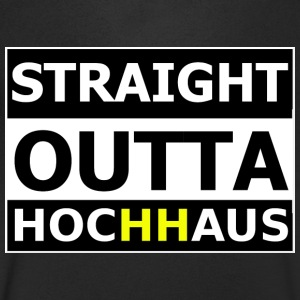 Straight Outta Hochhaus HH YELLOW - Men's V-Neck T-Shirt